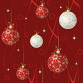 Red and white spheres Royalty Free Stock Photo