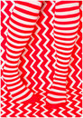 Red white and striped stocking Royalty Free Stock Images