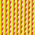 Red and White striped straws Royalty Free Stock Photo
