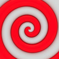 Red and white swirl Stock Photo