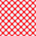 Red and white tablecloth Stock Photo