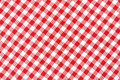 Red and white tablecloth gingham texture background high detailed Stock Image