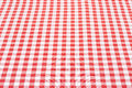 Red and white tablecloth perspective gingham texture background high detailed Stock Photo