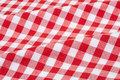 Red and white tablecloth texture background gingham high detailed Royalty Free Stock Photography