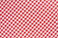 Red and white tablecloth texture background Royalty Free Stock Photo