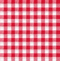 Red and white tablecloth texture wallpaper italian style Stock Photos