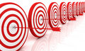 Red and White target with arrow Royalty Free Stock Images