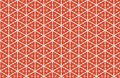 Red White Triangles Abstract Pattern Design