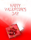 Red and white valentines day background a valentine s gift box with holiday message Royalty Free Stock Photography