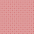 Red and white vintage damask repeat pattern Royalty Free Stock Photo