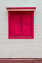 A red window Royalty Free Stock Photos