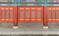 A red window of carve patterns or designs on woodwork traditional chinese architecture bright and gold shows solemn and dignified Royalty Free Stock Photos