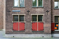 Red Window of Grote kerk (Big Church) in The Hague Royalty Free Stock Photo