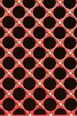 Red window lattice Royalty Free Stock Photography
