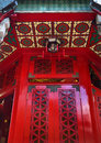 Red Window Wong Tai Sin Taoist Temple Hong Kong Stock Photography