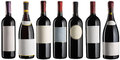 Red wine bottles set Royalty Free Stock Photo