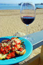 Red Wine and Bruschetta Royalty Free Stock Photo