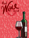 Red wine card Stock Image