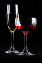 Red wine and champagne Stock Photography