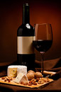 Red wine and cheese Royalty Free Stock Photo