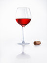 Red Wine And Cork Stock Images