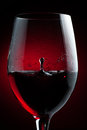 Red Wine Drop Royalty Free Stock Photo