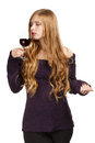 Red wine expression Royalty Free Stock Photo