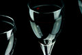 Red wine glass closeup with in a row background adapted Royalty Free Stock Photos