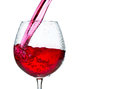 Red wine glass isolated on white background Stock Photo