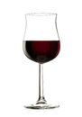 Red wine a glass of isolated on white background Royalty Free Stock Photos