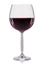 Red wine in a glass isolated on white background Royalty Free Stock Photo