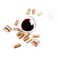 Red wine glass isolated on white background Royalty Free Stock Photo