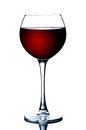 Red wine in a glass isolated on white background - realistic photo image - with clip path Royalty Free Stock Photo