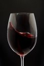 Red Wine Glass silhouette on Black Royalty Free Stock Photo