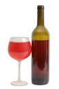 Red wine glass on white background Royalty Free Stock Photo
