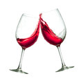Red wine glasses Royalty Free Stock Photo
