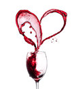 Red wine heart Royalty Free Stock Image