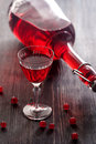 Red wine with red currant berries Royalty Free Stock Photo
