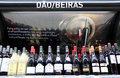 Red wine for sale portuguese alentejo dao beiras displayed in a store in portugal Royalty Free Stock Images