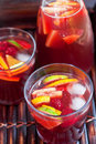 Red wine Sangria Stock Photo
