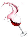 Red wine splash Stock Images