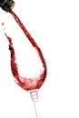 Red wine splashing Stock Images