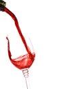 Red wine splashing Stock Image