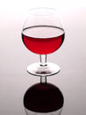 Red wine and wineglass beautiful glass Stock Images