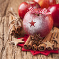 Red winter apples Stock Image