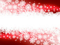 Red winter background & snowflakes. EPS 8 Royalty Free Stock Photo