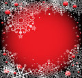 Red winter frame Royalty Free Stock Photos