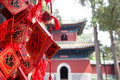 Red wishing cards at Confucius Temple in Beijing Royalty Free Stock Photos