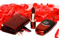 Red womanish lipstick Royalty Free Stock Photography