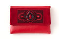 The red women clutch bag Stock Image